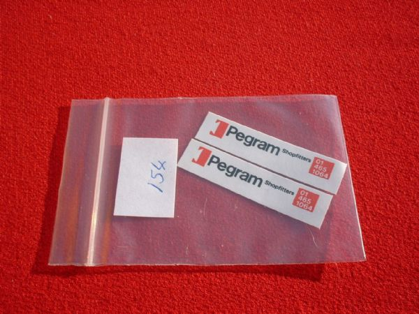 "Matchbox 1/75 5B ROUTEMASTER BUS "" PEGRAM "" (This is a sticker ) TRANSFERS / DECALS"
